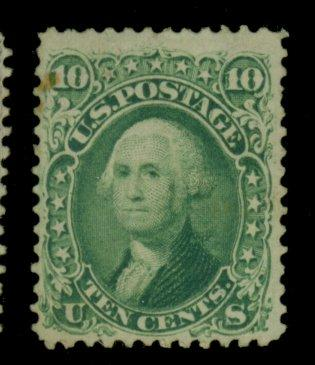 68 MINT F-VF No Gum Small stain Cat$375