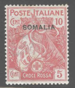 Italian Somalia Scott B1 MH* 1916 red cross semi-postal stamp CV$16