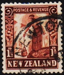 New Zealand. 1935 1 1/2d S.G.558a  Fine Used