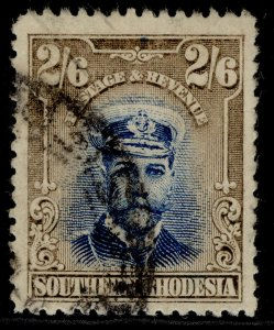 SOUTHERN RHODESIA GV SG13, 2s 6d blue & sepia, USED. Cat £65.
