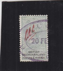 Bechuanaland Local Tax, 1965, Sc #20, Overprint Black 1s, Used (24650)