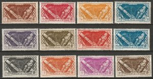 French Polynesia 1934-40 Sc 103//116 set high values most MH* some disturbed gum