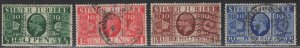 GREAT BRITAIN  226-229 USED,  SILVER JUBILEE ISSUE 1935