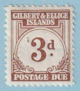 GILBERT & ELLICE ISLANDS J3 POSTAGE DUE  MINT HINGED OG * NO FAULTS EXTRA FINE!