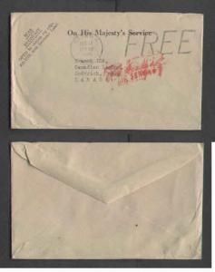 Canada  #2176-Canada cover-OHMS-Carleton County-Ottawa,Ont cds-Aug 17 1945-H/S