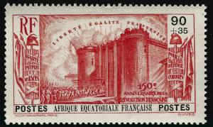 French Equatorial Defense of Colonies B6 VF hr $16...Make me an Offer!