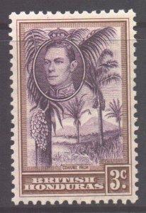 Br Honduras Scott 117 - SG152, 1938 George VI 3c MH*