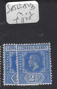 LEEWARD ISLANDS (P1610B)  KGV  2 1/2D  SG 50, 50B   MOG