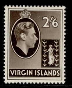BRITISH VIRGIN ISLANDS GVI SG118a, 2s 6d sepia, M MINT. Cat £17.