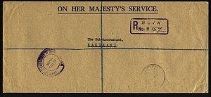 FIJI 1968 OHMS cover Registered Suva to Raki Raki..........................95569