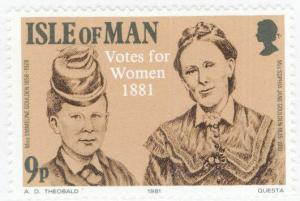 Isle of Man Scott 197 MNH** Votes for Women stamp 1981
