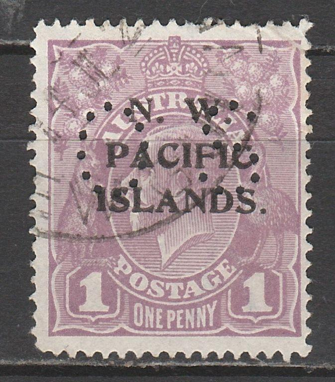 NWPI NEW GUINEA 1919 KGV OS 1D USED
