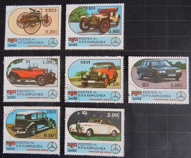 Auto, Kampuchea, Cambodia, 1986, Mercedes-Benz Cars, (1698-Т)