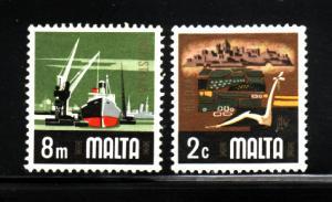 Malta 457, 460 MNH Various