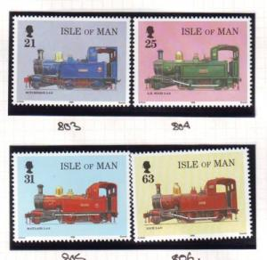 Isle of Man Sc 781-4 1998 Steam Engines stamp set  NH