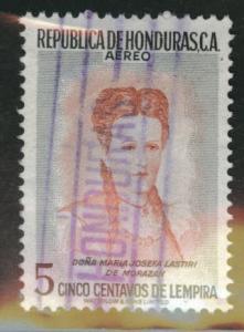 Honduras  Scott C254 Used 1956 stamp