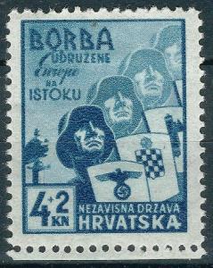 1942. WWII NDH INDEPENDENCE CROATIA Mi.#69