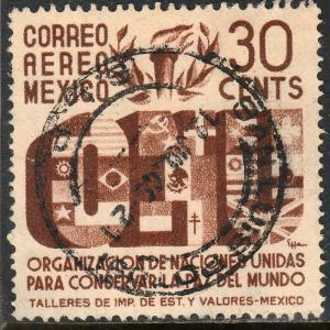 MEXICO C158, 30c Honoring the United Nations. Used (867)