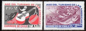 Chile  Scott  430-431  Mint  Short set