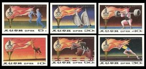 1979 Korea North 1860-64b+1865b 1980 Olympic Games in Moscow 15,00 €
