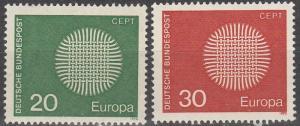 Germany #1018-9  MNH  (S9313)