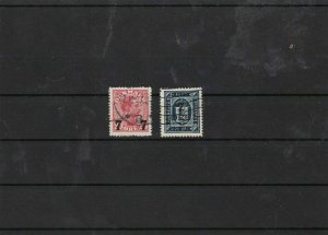denmark 1926 surcharged used stamps cat £67  ref 7627