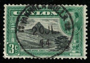 King George VI, 1938-1949, Ceylon, SC #278, 3 c (T-7298)