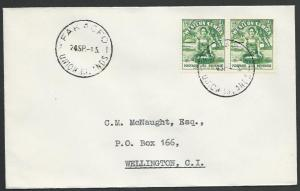 TOKELAU IS 1945 cover FAKAOFO / UNION ISLANDS cds,.................... ....11511