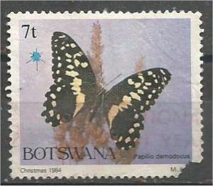 BOTSWANA, 1984, used 7t, Butterflies Scott 355 Damaged