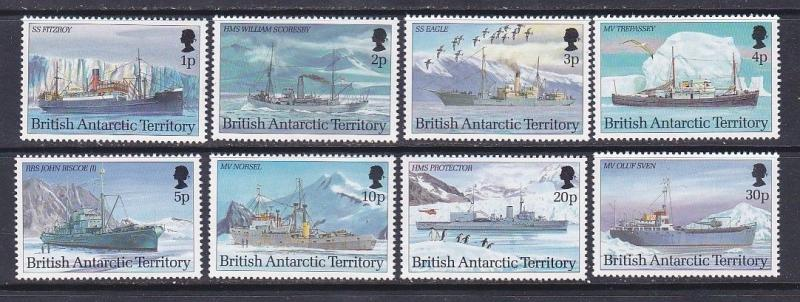 British Antarctic Territory BAT 202-09 MNH 1993 1p-30p Research Ships Issues VF