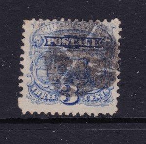 USA an 1869 3c blue used
