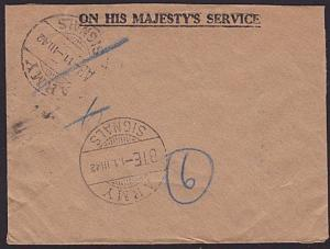 EGYPT BRITISH FORCES 1942 Official cover ARMY SIGNALS cds etc to Glasgow....6940