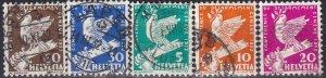 Switzerland #210-14  F-VF Used CV $12.60  (SU7820)
