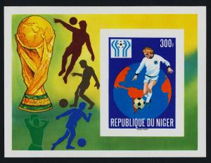 Niger 442 imperf MNH World Cup Soccer, Map