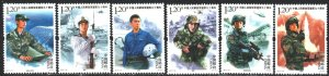 China. 2017. 4920-25. Chinese special forces, helicopters, ship. MNH.