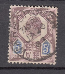 J27546 1902-11 great britain used #134 king