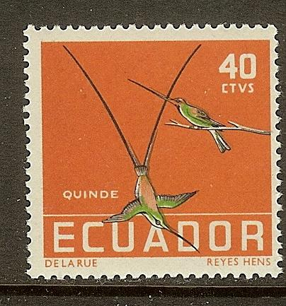 Ecuador, Scott #637, 40c Hummingbirds, MNH