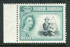 NORTH BORNEO; 1961 early QEII issue fine Mint hinged Marginal value, 6c