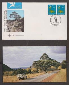 SOUTH AFRICA Scott # 379 FDC Our Green Heritage With Enclosure