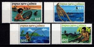 Papua New Guinea 1981 Fishing, Marginal Set [Mint]