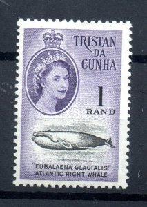 Tristan Da Cunha QEII 1961 1R violet LHM mint SG54 WS18504
