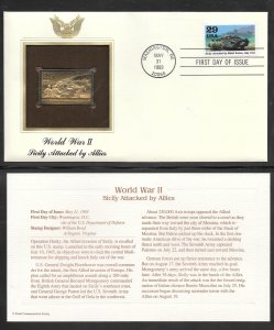 Just Fun Cover #2765C U/A GOLD, GOLDEN REPLICA FDC World War II (my5842)