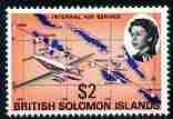 Solomon Islands 1968-71 Internal Air Service $2 unmounted...