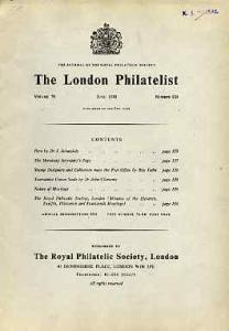 Literature - London Philatelist Vol 79 Number 0930 dated ...