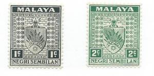 Malaya -Negri Sembilan #21-22 (MH)  CV $3.50