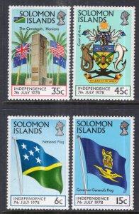 Solomon Islands 369-372 MNH VF