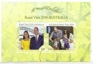 2014   AUSTRALIA  -  SG.  MS 4195  -  ROYAL VISIT  -  USED