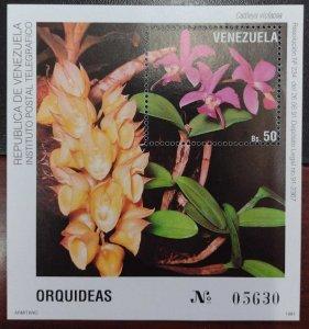 L) 1991 VENEZUELA, ORCHID, NATURE, FLORA, FLOWERS, CATTLEYA VIOLACEA, MNH