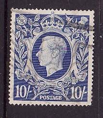 Great Britain-SC#251A-used NH 10sh KGVI-