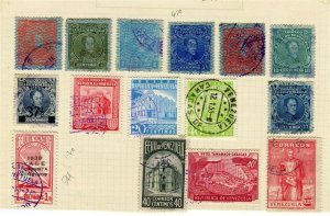 VENEZUELA; 1890s-1930s early classic issues small mixed USED LOT